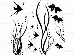 fish silhouette wall stickers vdan1006en artpainting4you eu fish silhouette animals wall decals fish silhouette animals wall decals