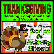 thanksgiving readers theater script reading activity packet