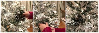 white christmas create a 6 u0027 flocked christmas tree for under 40