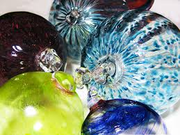 blown glass baubles