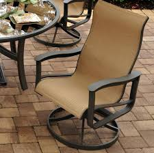 Agio Manhattan by Agio Majorca Outdoor Sling Swivel Rocker With Inserted Woven