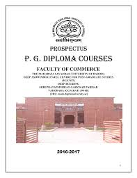 post graduate diploma courses maharaja sayajirao university of