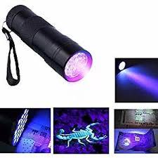 Torch Light Flashlight Invisible Ink Marker 9led Uv Ultra Violet 3 Aaa Battery Flashlight