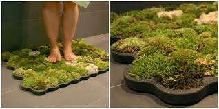 moss bath mat adds nature to your bathroom how to make diy moss