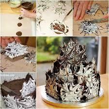 wonderful diy cool marble chocolate cake
