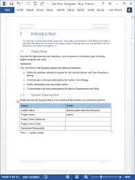 High Level Project Plan Excel Template Test Plan Ms Word Excel Template