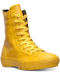 womens boots yellow converse s chuck high rise boots from finish line in