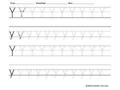 free tracing letter y worksheet