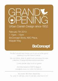 Shop Invitation Card Dressupnation Grand Opening Boconcept