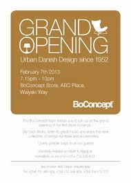 Invitation Card Grand Opening Dressupnation Grand Opening Boconcept