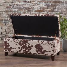 breanna floral fabric storage ottoman by christopher knight home breanna velvet cow print storage ottoman bench by christopher knight