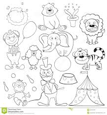 coloring book with circus elements stock images image 25470584