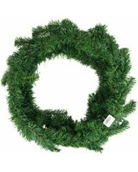 great deals on led artificial pine wreaths plain green
