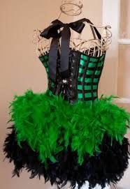 green mardi gras green black burlesque costume corset for mardi gras