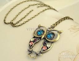 wholesale fashion owl necklace retro chain necklaces ornament