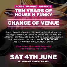 ra house warming 10th year anniversary at bxt frat house london