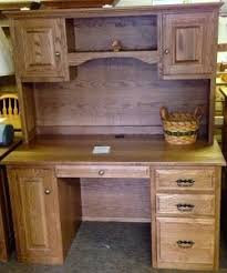 Oak Desk With Hutch Desks Amish Traditions Wv