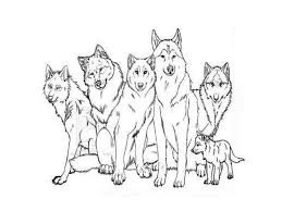 best family wolf coloring pages free 2238 printable coloringace com