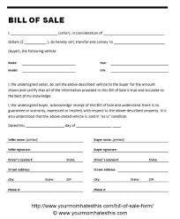 Auto Dealer Bill Of Sale Template by Bill Of Sale Form Pdf