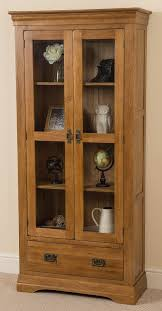 french chateau oak display cabinet free uk delivery