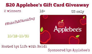 applebee s gift cards applebees gift card giveaway it s free at last