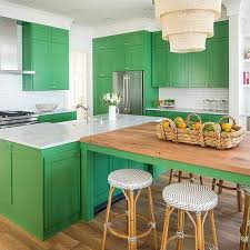 Green Kitchen Cabinets Kelly Green Kitchen Island Design Ideas