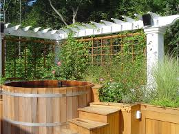 Trellis As Privacy Screen Baroque Trellises In Landscape Traditional With Soaking Tub Next