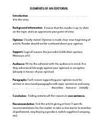 editorial page overhead note worksheet and quiz teacherlingo com