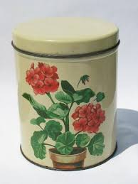 metal kitchen canisters vintage metal kitchen canisters pink geraniums canister set