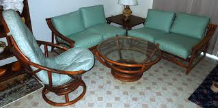 retro living room furniture sets 1960s vintage bamboo vinyl retro living room furniture set for