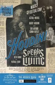 spirit halloween austin tx houdini speaks to the living hidden room theatre