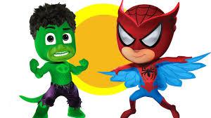 pj masks spider man hulk coloring pages for kids pj masks