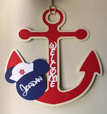 mickey mouse nautical birthday sign welcome sign nautical