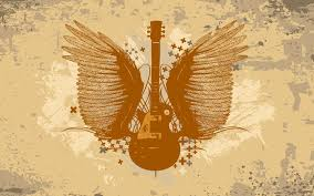 guitar with wings wallpaper wallpapers 52442