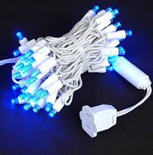 white wire wide angle blue 50 bulb led lights sets 11