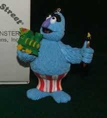 Blue Christmas Decorations For Sale by Herry Monster 013 Christmas On Sesame Street Ornament For Sale