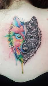 because life is way more fun with a splash of color wolf