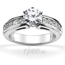 channel set engagement rings princess cut channel set engagement ring 1 2 ct t w