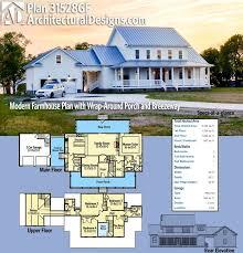 Modern Farmhouse Floor Plans Plan 31528gf Modern Farmhouse Plan With Wrap Around Porch And