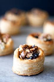 puff pastry canape ideas blue cheese cranberry and walnut puff pastry bites recipe blue