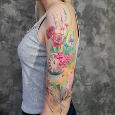 33 poetic watercolor designs by simona blanar tattooadore
