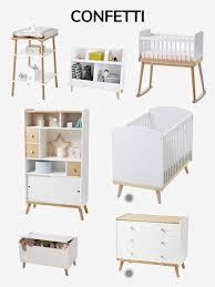 vertbaudet chambre bébé lit bébé à barreaux ligne confetti blanc vertbaudet