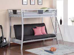 Metal Frame Loft Bed With Desk Bedroomdiscounters Bunk Beds Metal