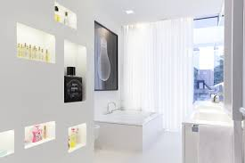 Modern White Bathrooms by Luxury Bathroom Design At Modern White House Design By Monovolume
