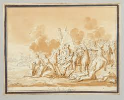 Italy Photo Album Album Containing 39 Mounted Drawings Being Scenes Of Napoleon In