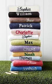 personalised towels and washers