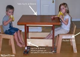 diy kids table and chairs my love 2 create