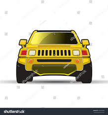 yellow jeep clipart yellow color modern car jeep front stock vector 572342686