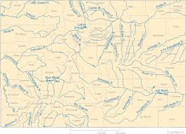 colorado physical map map of colorado lakes streams and rivers