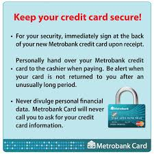metrobank card here are a few security tips from facebook